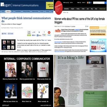 Recent articles featuring my blog