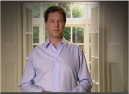 Nick Clegg's apology via YouTube