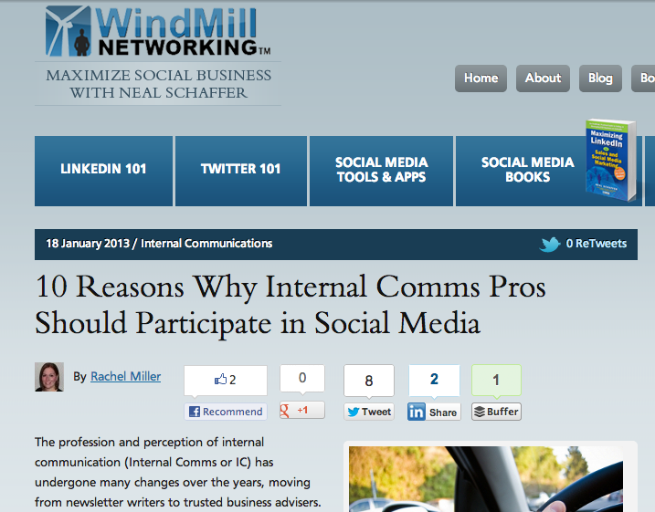 10 reasons why internal comms pros should participate in social media