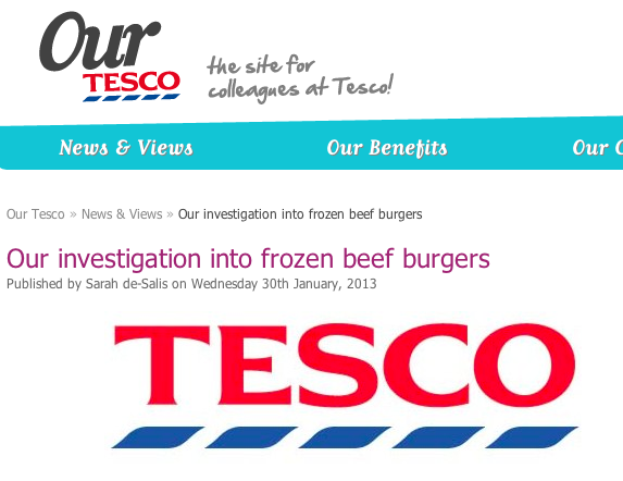 What Tesco is telling its employees about horsemeat