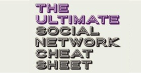 The ultimate social network cheat sheet-image