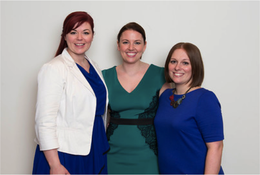 L-R: The IC Crowd co-founders Dana Leeson, Jenni Field, Rachel Miller
