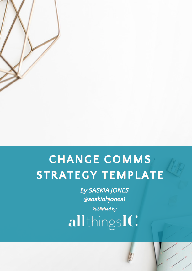 Free change communication strategy template | All Things IC