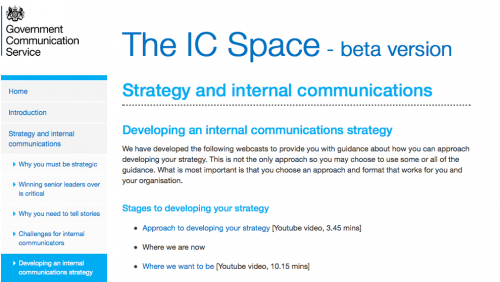Strategy and internal communication