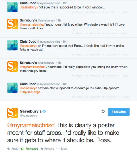 Sainsbury's Twitter exchange