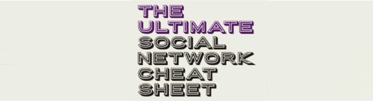 The ultimate social network cheat sheet