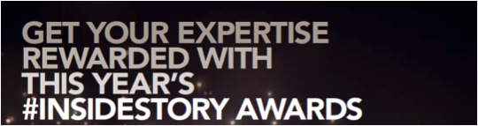 The #insidestory awards are open for entries