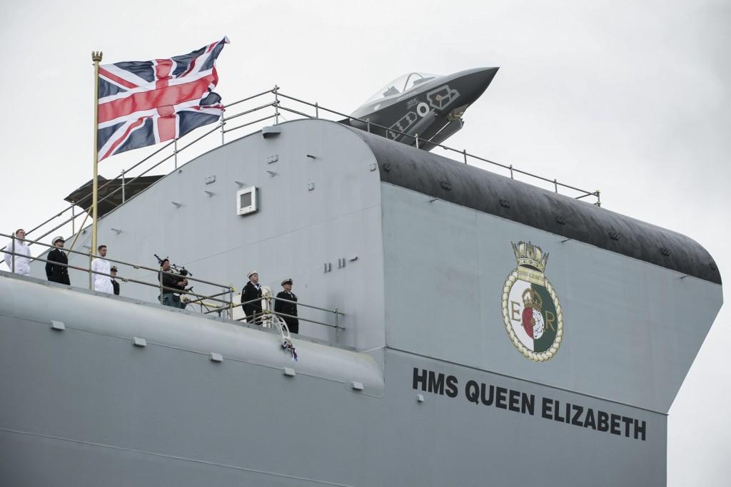 HMS QE naming ceremony