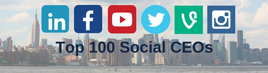 The top 100 CEOs on social media