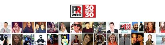 PR Week names its 30 under 30 PR professionals