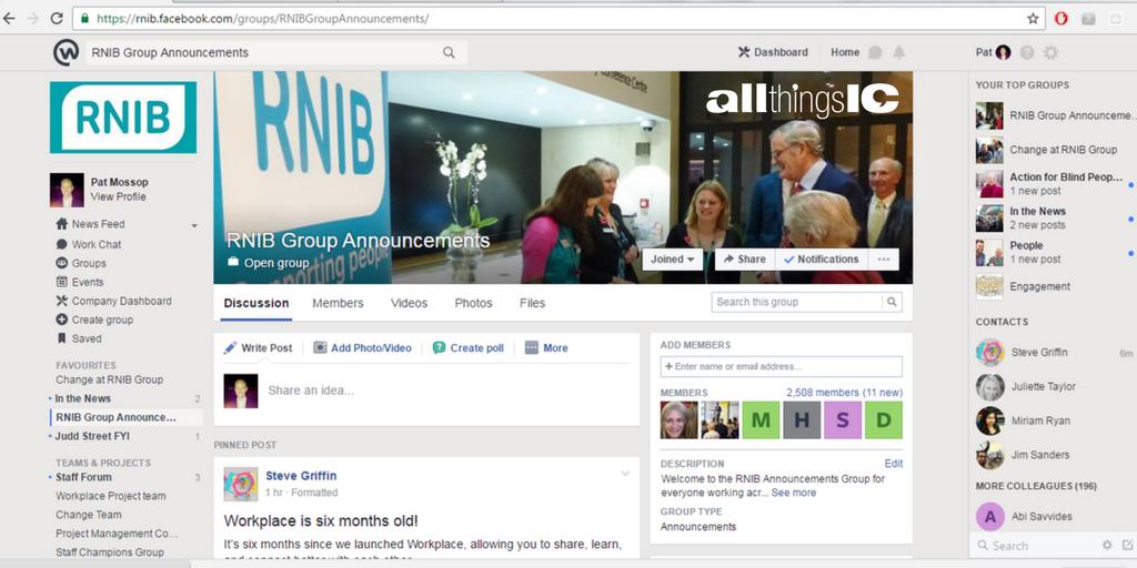 RNIB Workplace via All Things IC