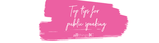 Top tips for public speaking