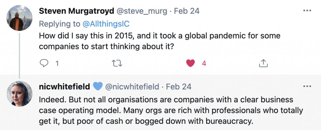 Tweet by Steve Murgatroyd
