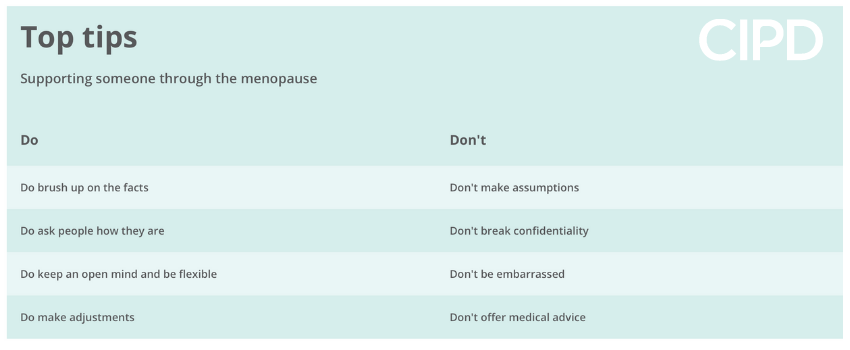 Top tips for menopause conversations