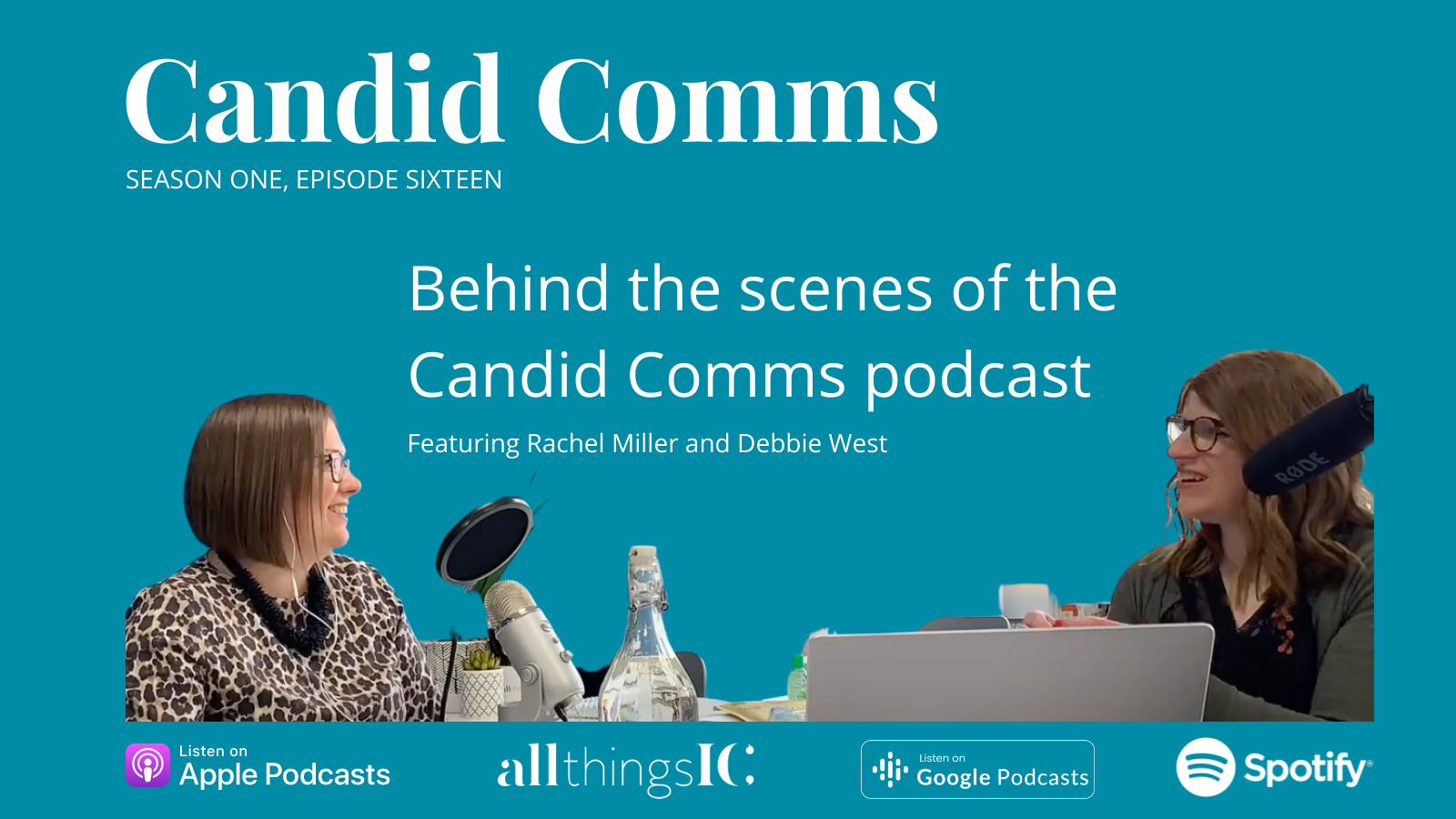 Candid Comms podcast with Rachel Miller and Debbie West