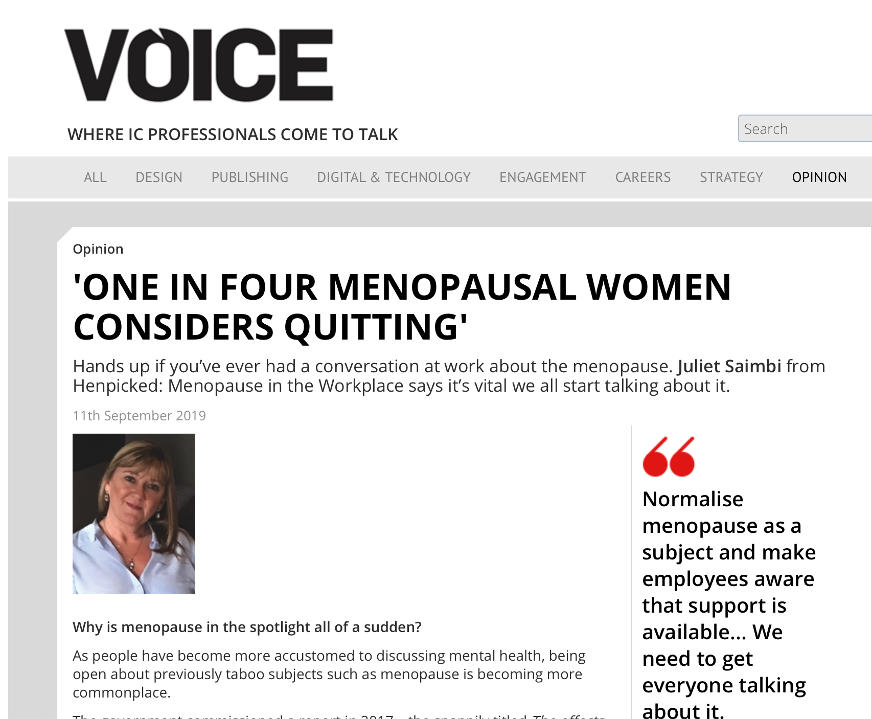 How to support employees through the menopause