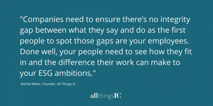 ESG quote from Rachel Miller