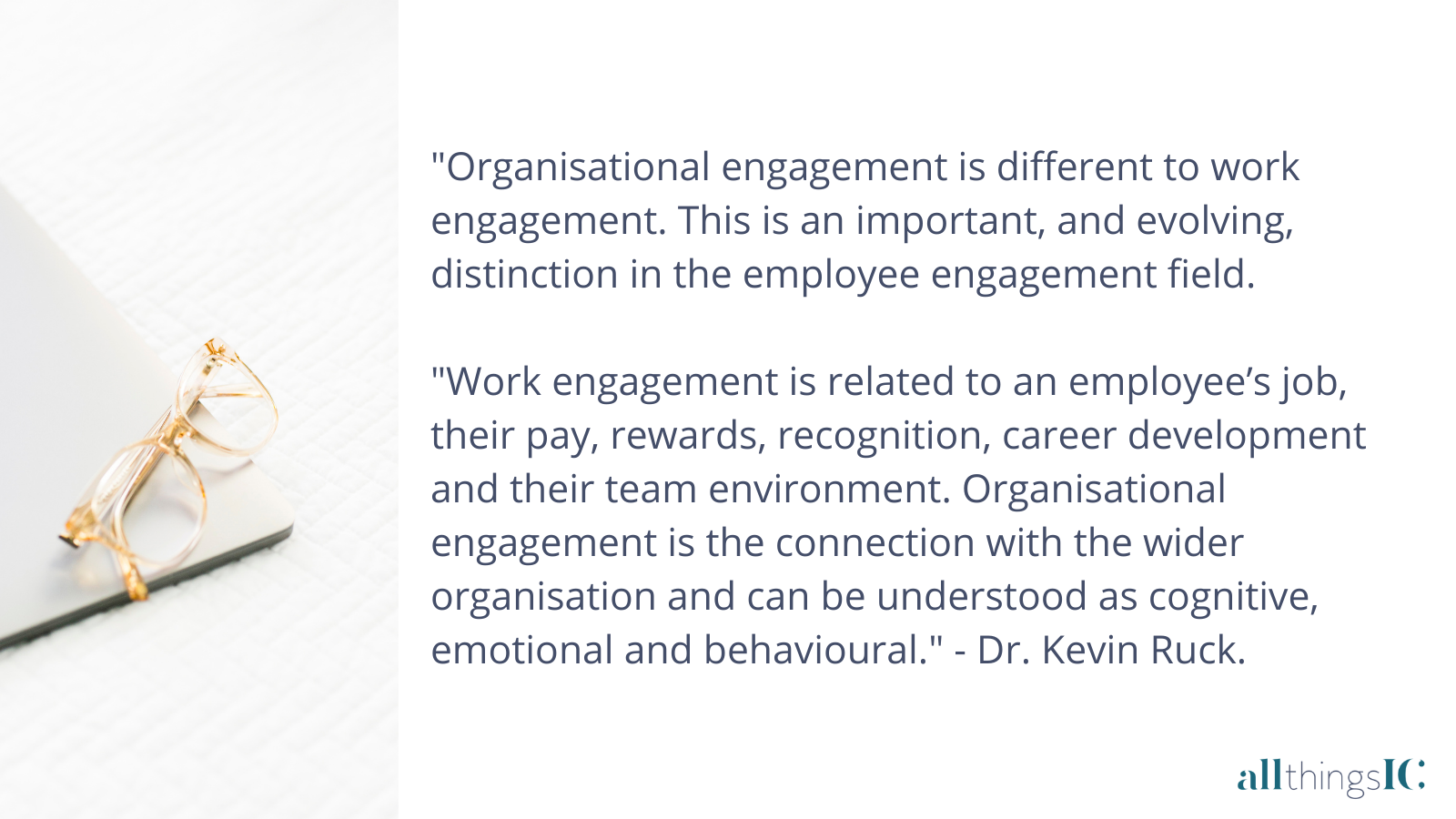 Role engagement and organisational engagement