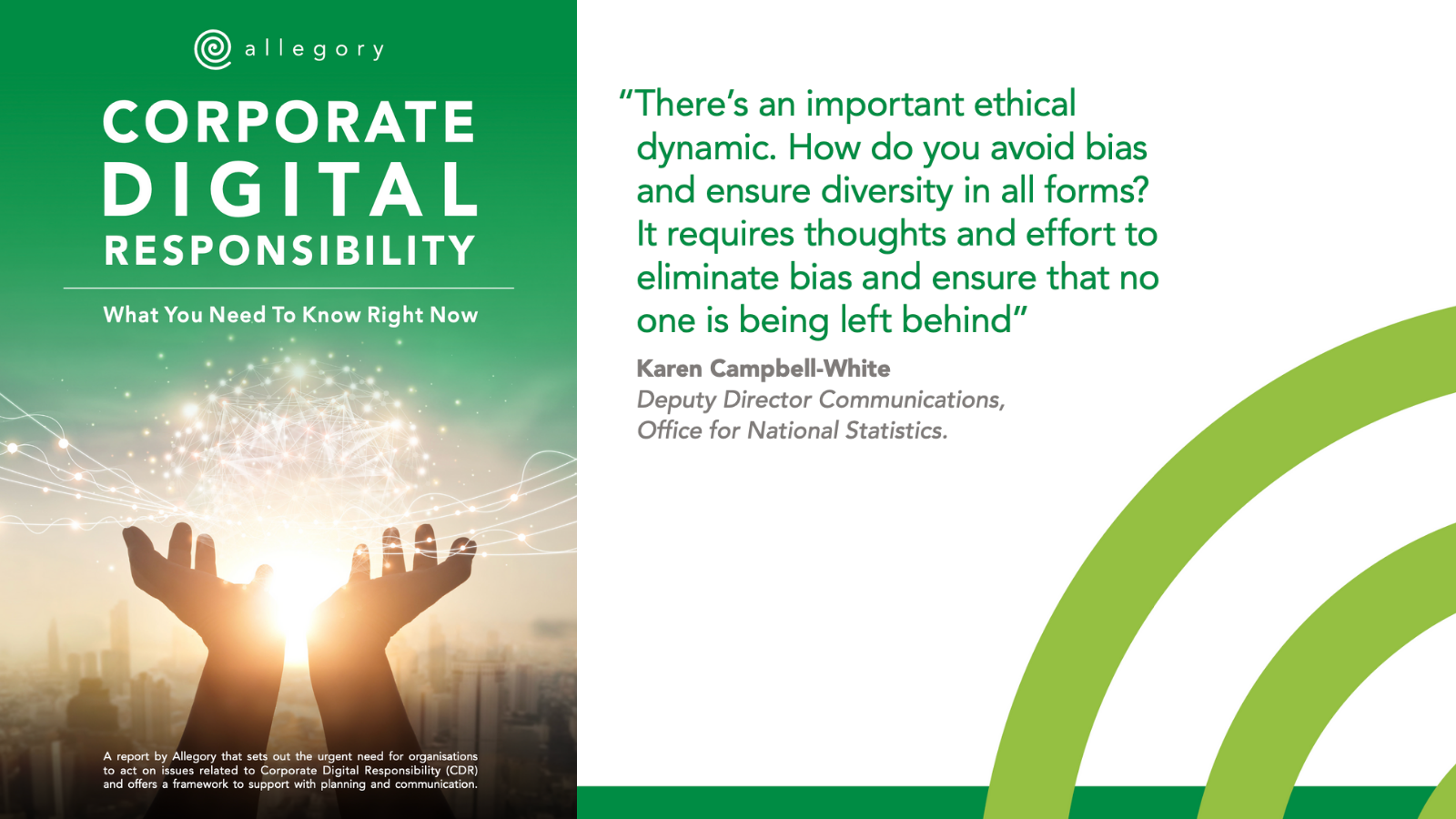 """There's an important ethical dynamic. How do you avoid bias and ensure diversity in all forms? It requires thoughts and effort to eliminate bias and ensure that no one is being left behind"""""""