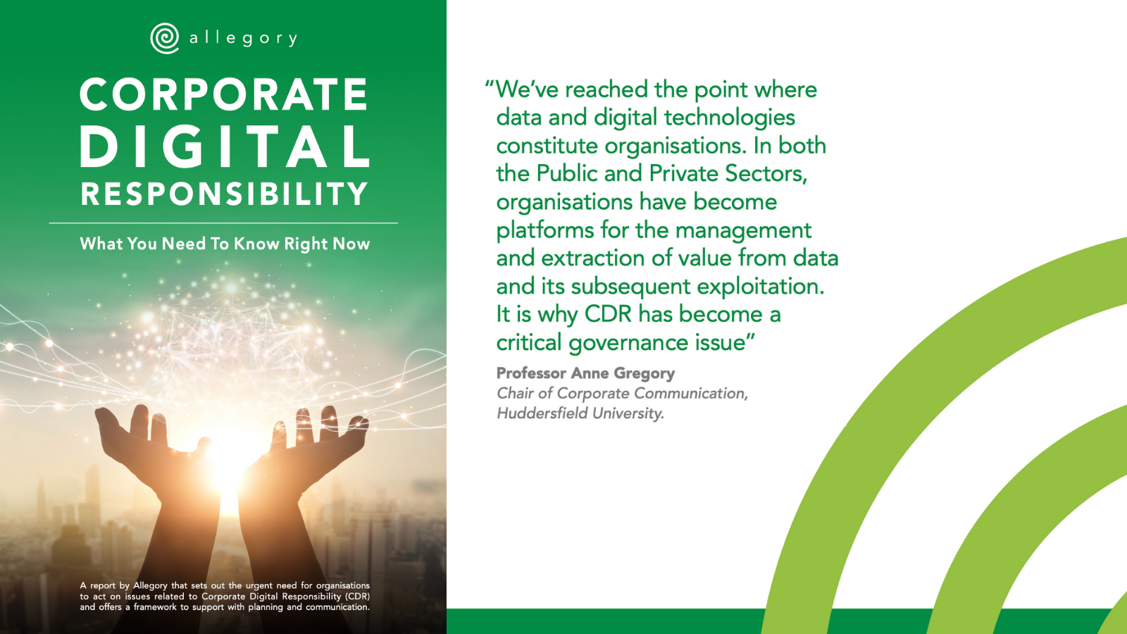 Corporate Digital Responsibility Report from Allegory