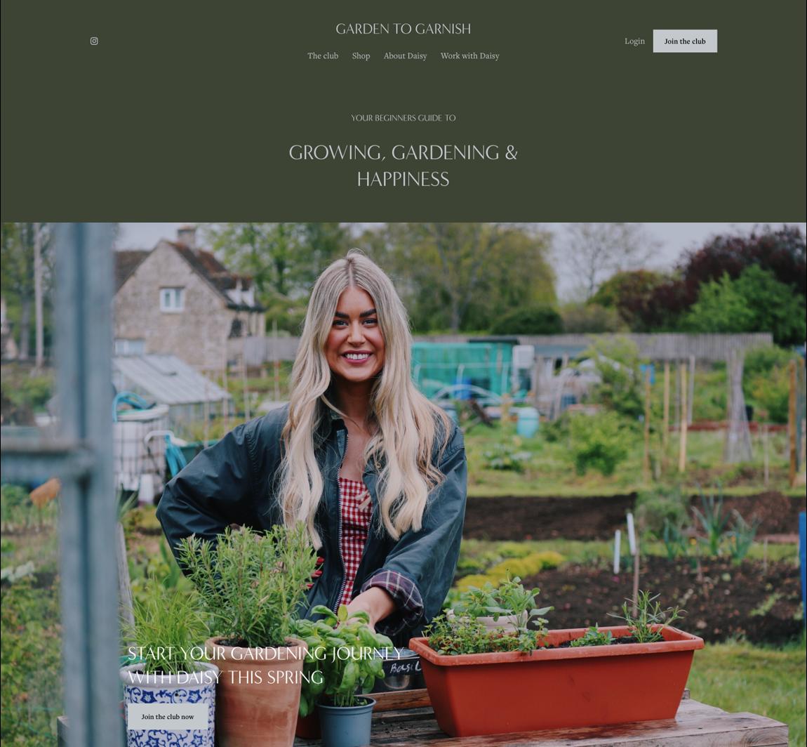 Garden To Garnish website
