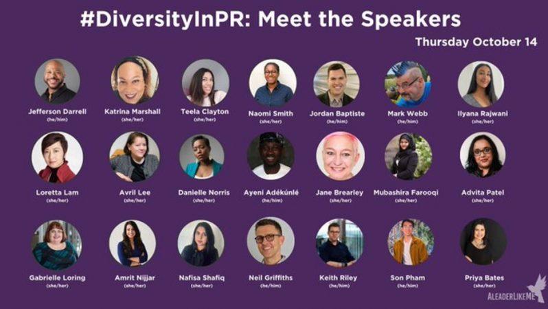 Diversity in PR speakers